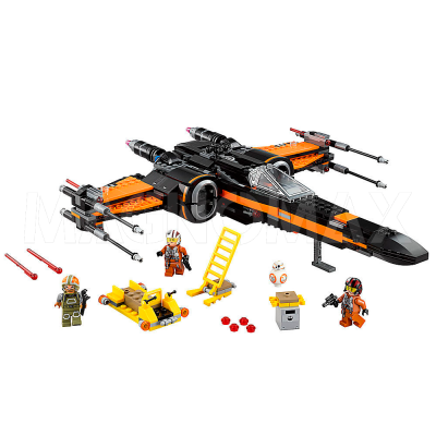 Конструктор Lepin 05004 / Star Wars Истребитель По (Poes X-Wing Fighter) ( аналог LEGO 75102, 748 дет.)