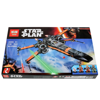 Конструктор Lepin 05004 / Star Wars Истребитель По (Poes X-Wing Fighter) (аналог LEGO 75102, 748 дет.) - 2